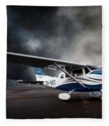 Cessna Ground Fleece Blanket