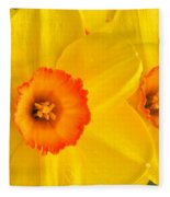 Ceylon Daffodils Fleece Blanket