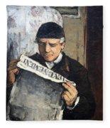 Cezanne's Father Reading Le Evenement Fleece Blanket