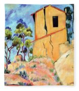 Cezanne's House With Cracked Walls Fleece Blanket