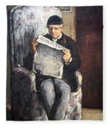 Cezanne's The Artist's Father Reading Le Evenement Fleece Blanket