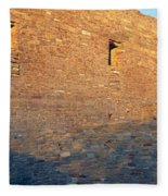 Chaco Canyon Indian Ruins, Sunset, New Fleece Blanket
