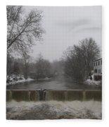 Chagrin Falls Xmas Fleece Blanket
