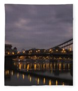 Chain Bridge Dawn Fleece Blanket
