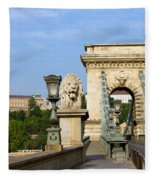 Chain Bridge In Budapest Fleece Blanket