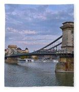 Chain Bridge Fleece Blanket