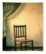 Chair And Curtain Fleece Blanket