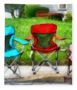 Chair Family Fleece Blanket