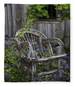 Chair In The Garden Fleece Blanket