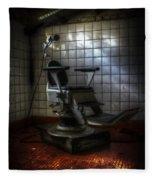 Chair Of Horror Fleece Blanket