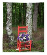 Chair Of The Grand Elf Fleece Blanket
