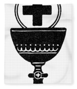 Chalice And Cross Fleece Blanket