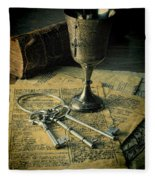 Chalice And Keys Fleece Blanket