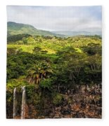Chamarel Waterfall. Mauritius Fleece Blanket