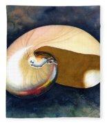 Chambered Nautilus Fleece Blanket