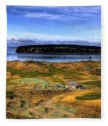Chambers Bay Golf Course Fleece Blanket