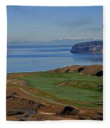 Chambers Bay Golf Course - University Place - Washington Fleece Blanket
