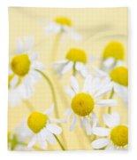 Chamomile Flowers Close Up Fleece Blanket