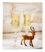 Champagne At Christmas Fleece Blanket