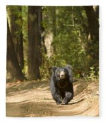 Chance Encounter With The Hairy One Fleece Blanket