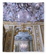 Chandelier Inside Chateau De Chantilly Fleece Blanket