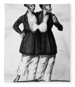 Chang And Eng (1811-1874) Fleece Blanket