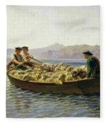 Changing Of Meadow Fleece Blanket