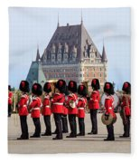 Changing Of The Guard The Citadel Quebec City Fleece Blanket