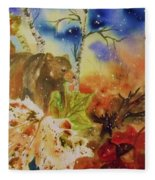 Changing Of The Seasons - Square Format Fleece Blanket