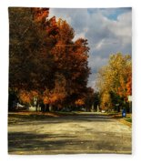 Changing To Fall Colors In Dwight Il Fleece Blanket