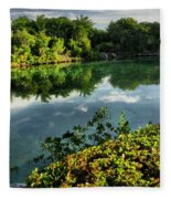 Chankanaab Mexico Lagoon Fleece Blanket
