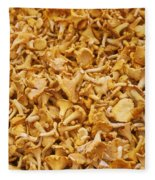 Chanterelle Mushroom Fleece Blanket