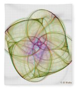 Chaoscope Abstract 3d Stereo - Use Red-cyan Filtered 3d Glasses Fleece Blanket