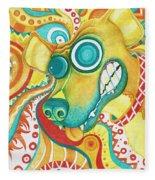 Chaotic Canine Fleece Blanket