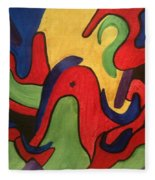 Chaotic Thought Fleece Blanket