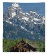 1m9335-chapel And Grand Teton Fleece Blanket
