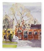 Chapel And Hall  Lincoln's Inn Fleece Blanket