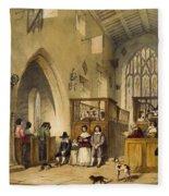Chapel At Haddon Hall, Derbyshire Fleece Blanket