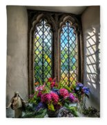 Chapel Flowers Fleece Blanket
