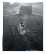 Chapel In Mist Fleece Blanket