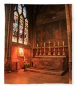 Chapel In St Severin Church Paris Fleece Blanket