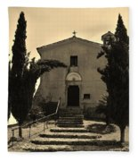 Chapel Of San Amasio Fleece Blanket