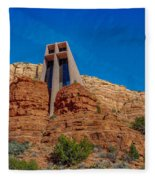 Chapel Of The Holy Cross Sedona Az Front Fleece Blanket