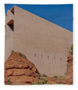 Chapel Of The Holy Cross Sedona Az Side Fleece Blanket