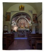 Chappel At Sirmione. Lago Di Garda Fleece Blanket