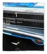 Charger 500 Front Grill And Emblem Fleece Blanket