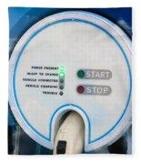 Charging Station For Electric Hybrid Car Fleece Blanket