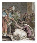 Charlemagne Receives The Ambassadors Fleece Blanket