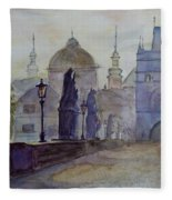 Charles Bridge Prague Fleece Blanket