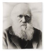 Charles Darwin Fleece Blanket